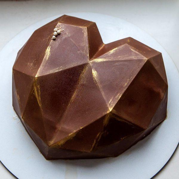 Форма силиконовая для муссового десерта сердце