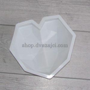 форма силиконовая для мусового десерта сердце