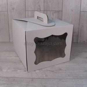 Тортовая упаковка 300х300х250 (с окном)