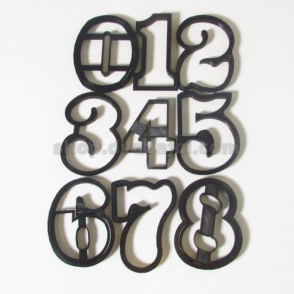 Вырубки цифры 9 шт h8