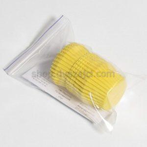 Бумажный стаканчик 30х24 желтый 25 штук