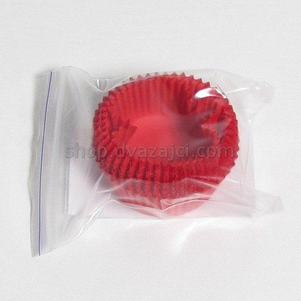 Бумажный стаканчик 50х30 красный 25 штук