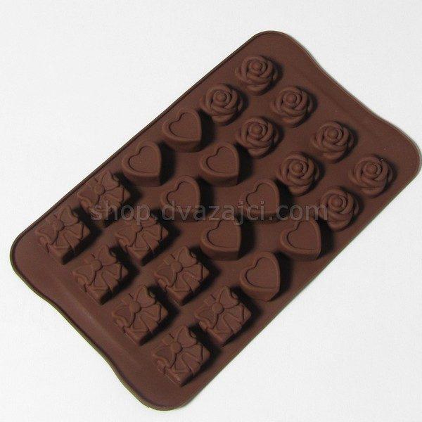 Форма силиконо вся для конфет ассорти