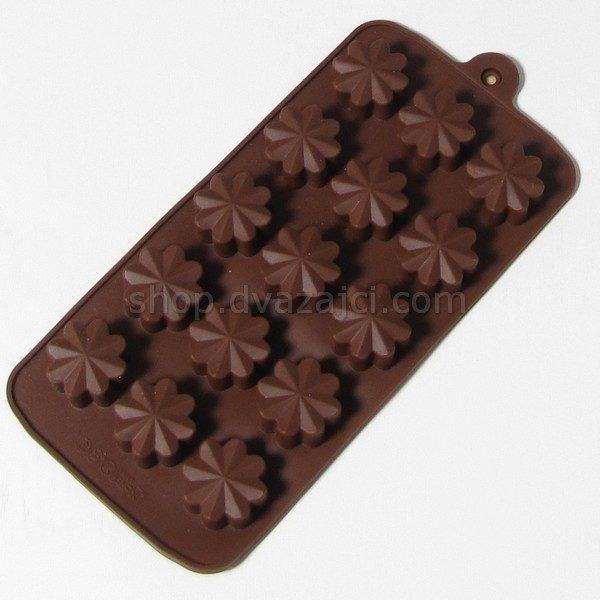 Форма силиконовая для конфет цветы