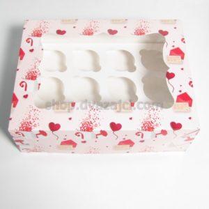 Коробка для кексов на 12 шт с окном 330х250х110 принт Письмо