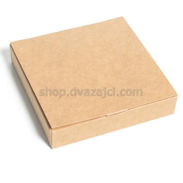 Коробка для конфет (на 9 штук) 153х153х30 крафт