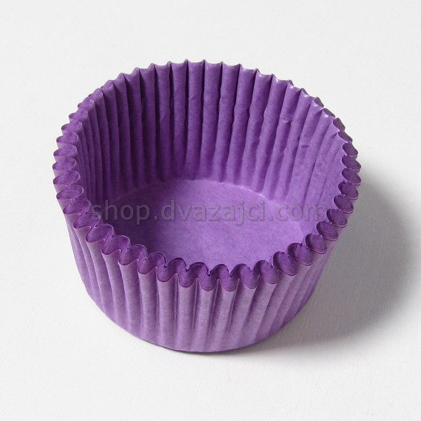 Бумажный стаканчик 50х30 фиолетовый 25 штук