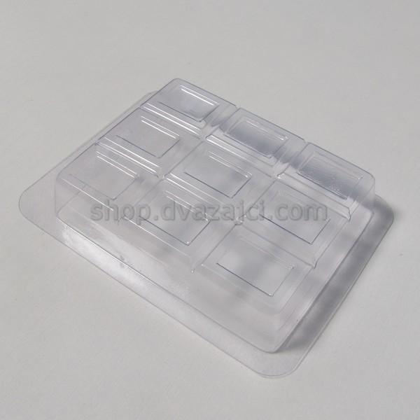 Форма пластиковая Шоколад плитка 9х7 см