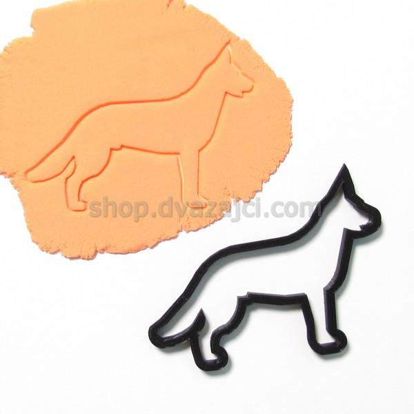 Форма для печенья Немецкая овчарки 10 см