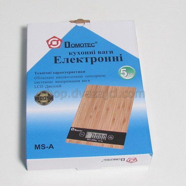 Весы кухонные Domotec MS дерево 5 кг
