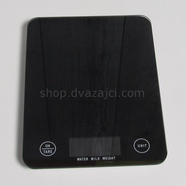 Весы кухонные TSEC стеклянные черные 5 кг