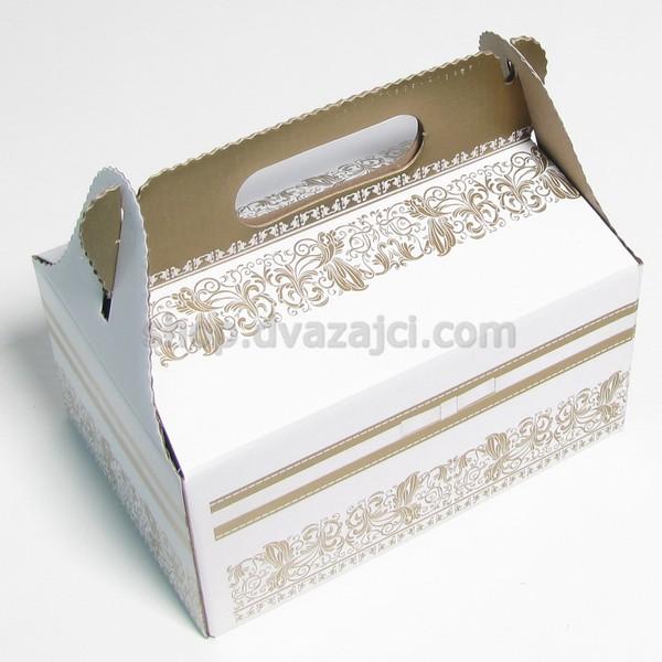 Коробка для пляцок 190х130х90 с ручкой #2