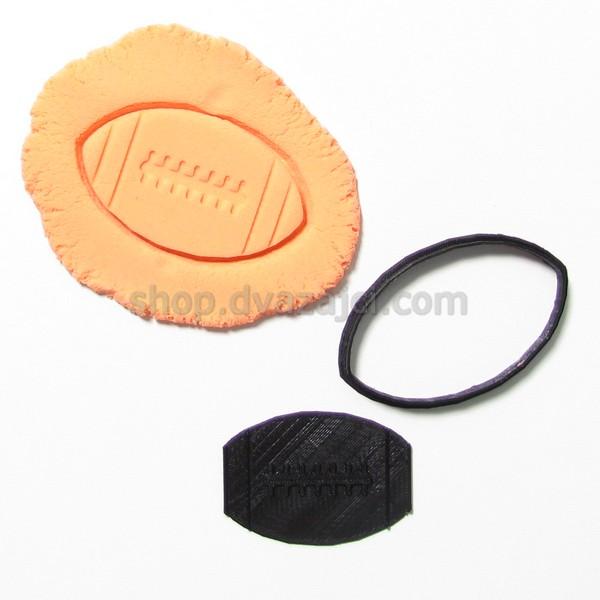 Форма для печенья Мяч для регби 9см
