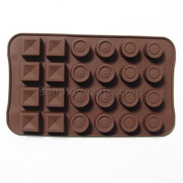 Форма силиконовая для конфет асcорти #2 24 шт