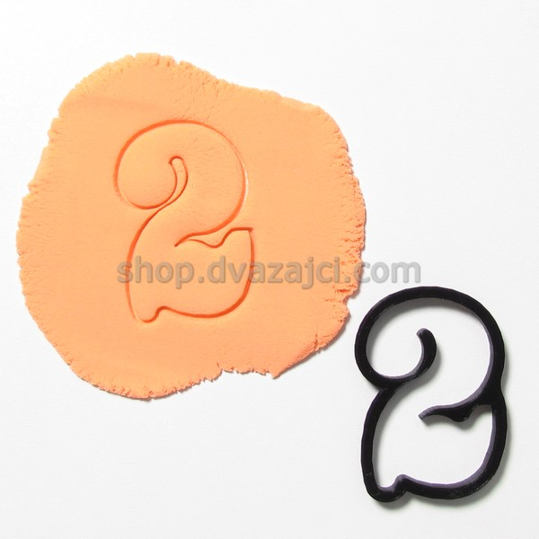 форма для печенья цифра 2