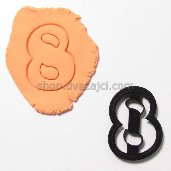 Форма для печенья цифра 8