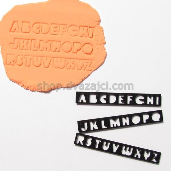 Вырубка алфавит латинский 1,5 см