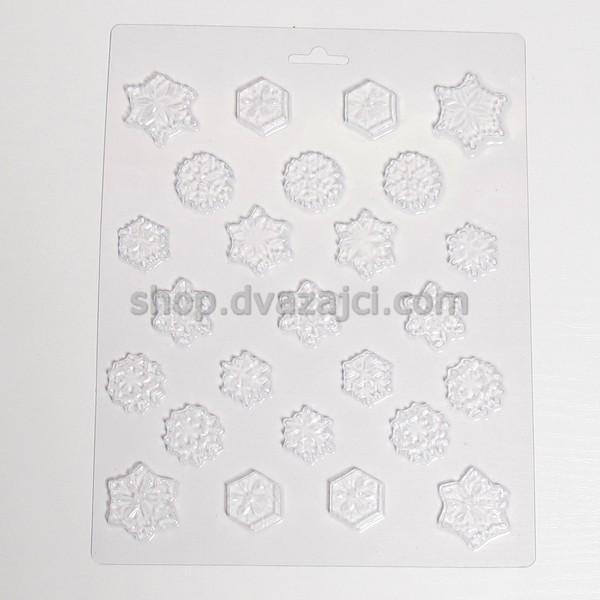 Форма пластиковая Снежинки