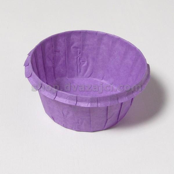 Бумажный стаканчик с усиленным бортом фиолетовый 25 штук