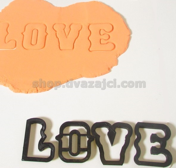 Форма для печенья LOVE