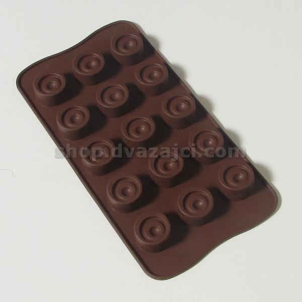 Форма силиконовая для конфет Классик 15 шт