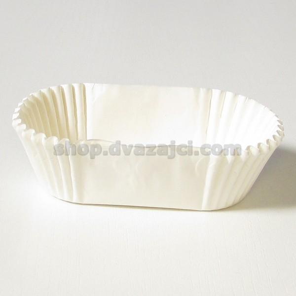 Бумажный стаканчик для эклеров 80х30 белый 25 штук