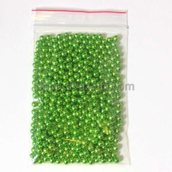 Шарик сахарный 5 мм (зеленый) 50 г