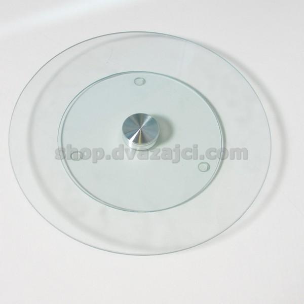 Подставка поворотная 25см стекло