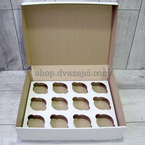Коробка для кексов (на 12 шт) 330х255х110
