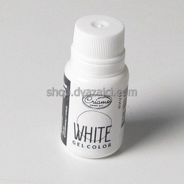 Краситель гелевый Criamo 10г белый