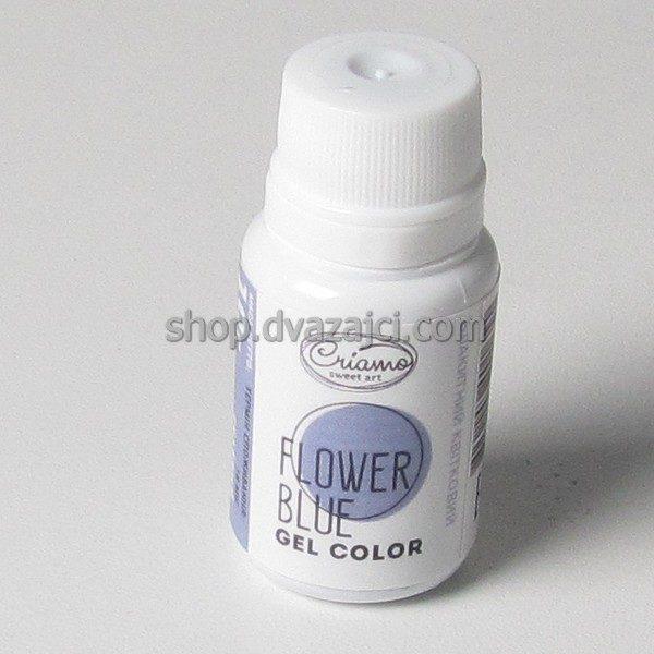 Краситель гелевый Criamo 10г голубой цветочный