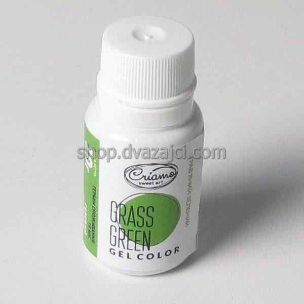 Краситель гелевый Criamo 10г травяной зеленый