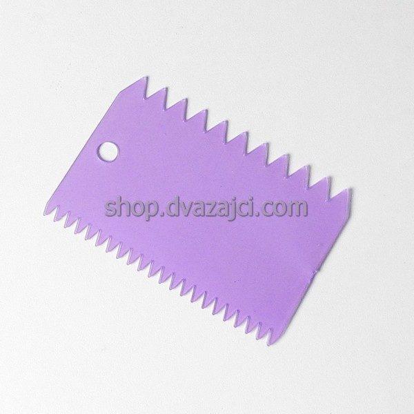 Шпатель кондитерский пластиковый зубчатый