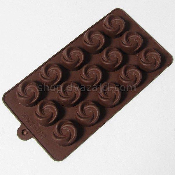 Форма силиконовая для конфет Завиток