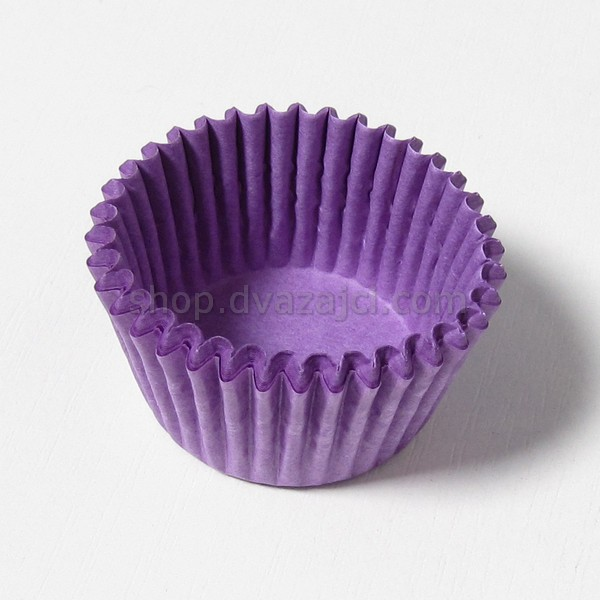 Бумажный стаканчик 30х24 фиолетовый 25 штук