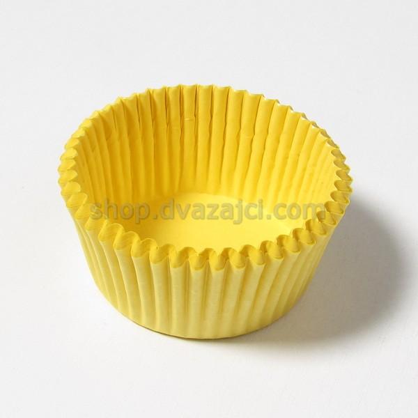 Бумажный стаканчик 50х30 желтый 25 штук