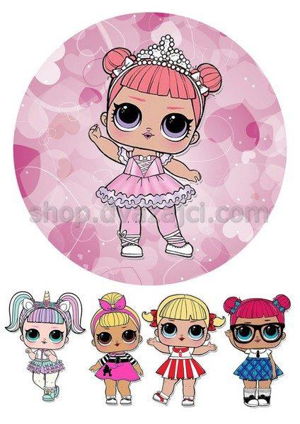 Куклы лол вафельная картинка