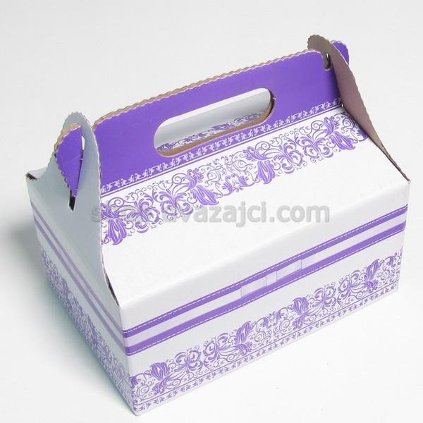 Коробка для пляцок 190х130х90 с ручкой #3