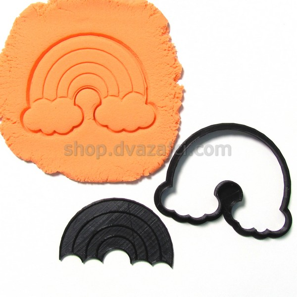 Форма для печенья Радуга 10см