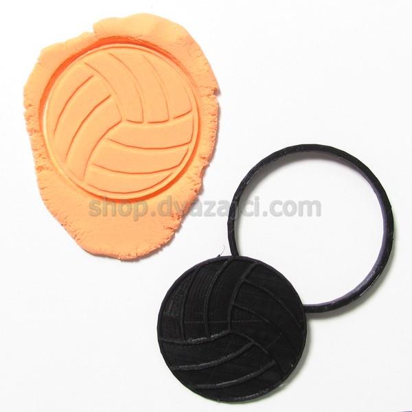 Форма для печенья Волейбольный мяч 9см