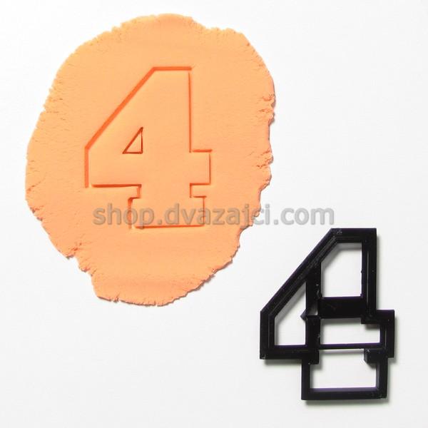 Форма для печенья цифра 4