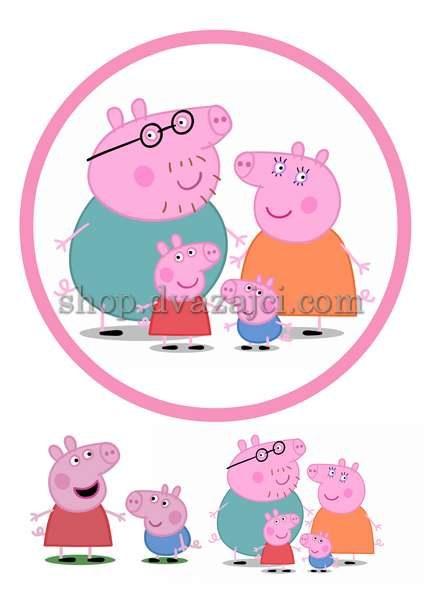 Свинка Пепа вафельная картинка А4
