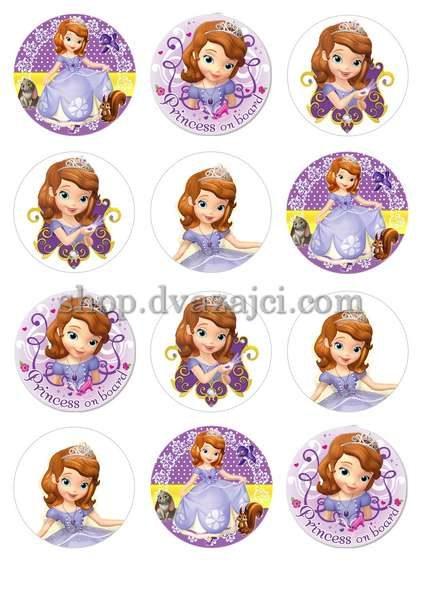 Принцесса София вафельная картинка А4