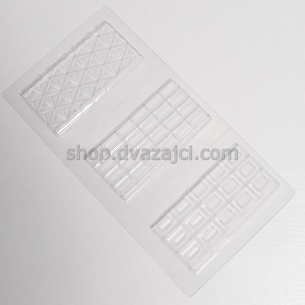 Форма пластиковая Шоколадные плитки 3шт
