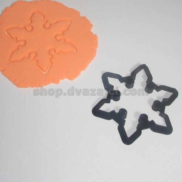 Форма для печенья Снежинка 10см