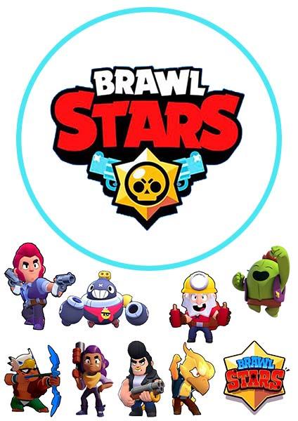 Brawl Stars вафельная картинка А4