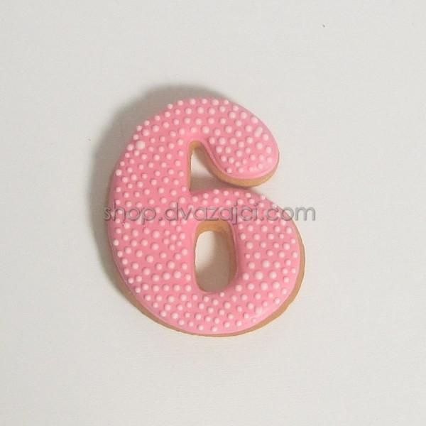 Пряник-топпер цифра 6