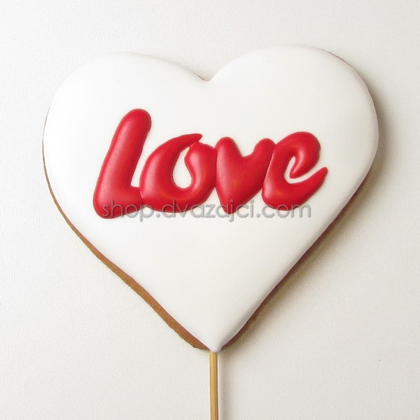 Пряник-топпер Сердце Love