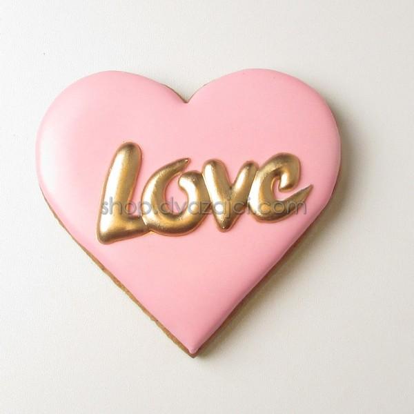Пряник Сердце Love